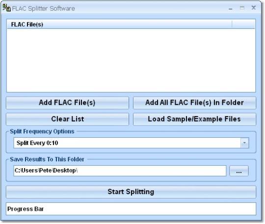 FLAC Splitter Software