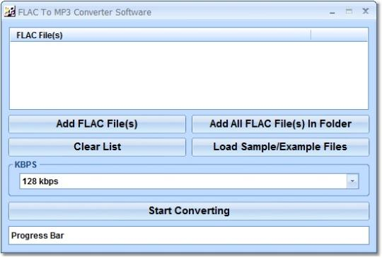 FLAC To MP3 Converter Software