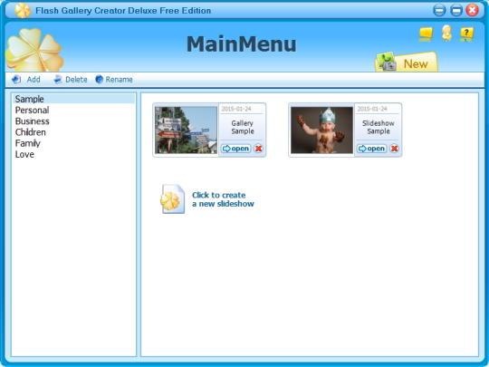 Flash Gallery Creator Deluxe Free Edition