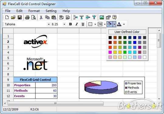 FlexCell Grid Control for .NET 4.0