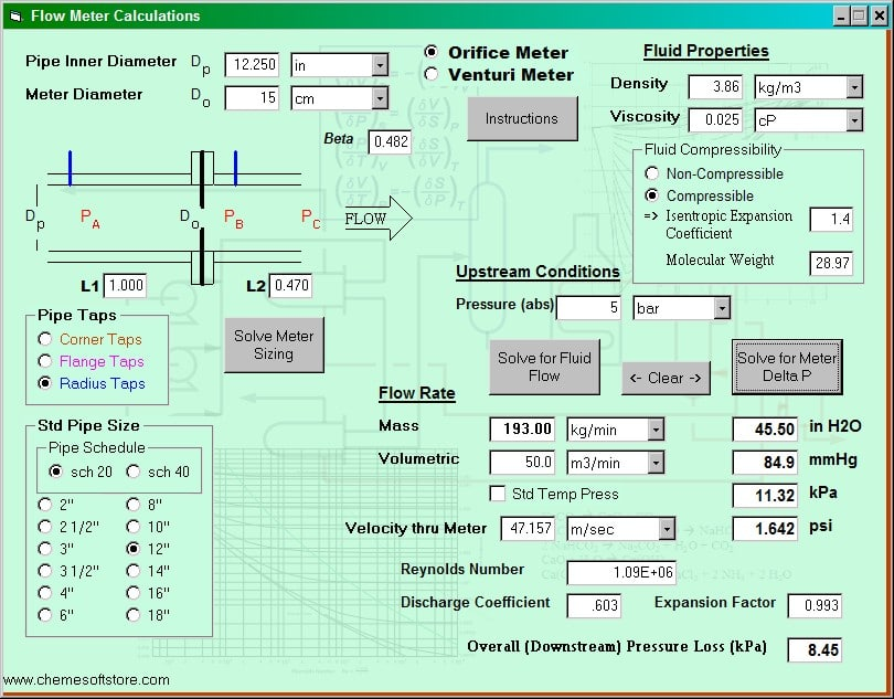 Flow Meter Calculations