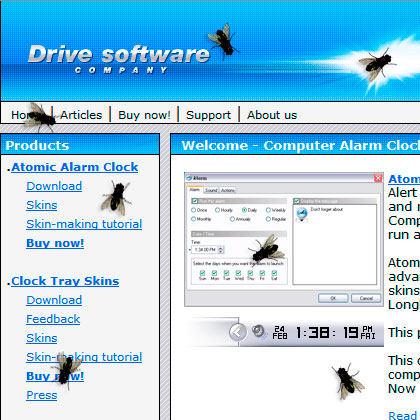 Fly on Desktop Screensaver
