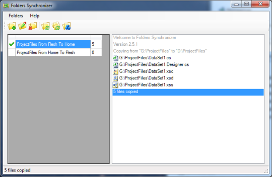 Folders Synchronizer