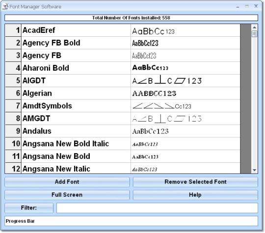 Font Manager Software