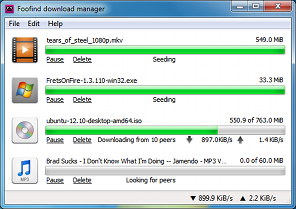 Foofind Download Manager