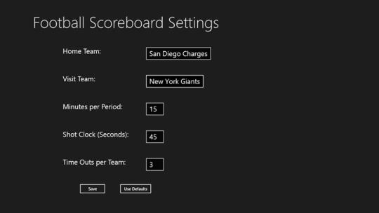 Football Scoreboard for Windows 8