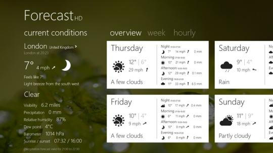 Forecast HD for Windows 8