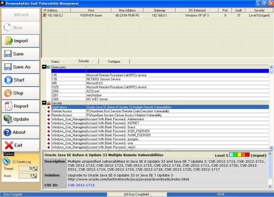FormasaAuditor SaaS Vulnerability Management