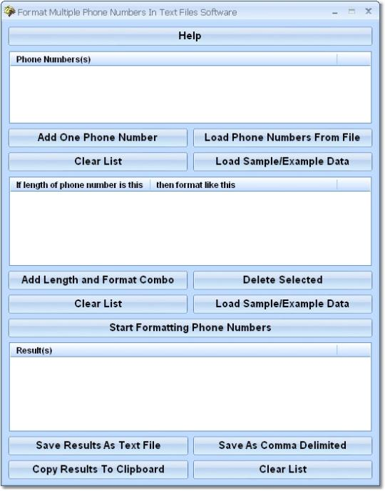 Format Multiple Phone Numbers In Text Files Software