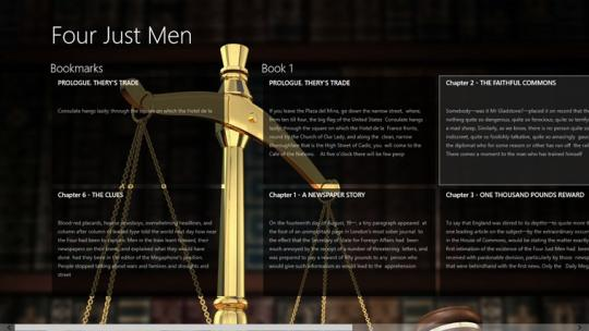 Four Just Men by Edgar Wallace for Windows 8