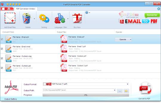 FoxPDF Email to PDF Converter