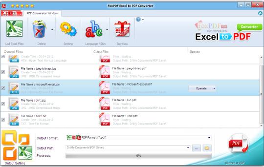 FoxPDF Excel to PDF Converter