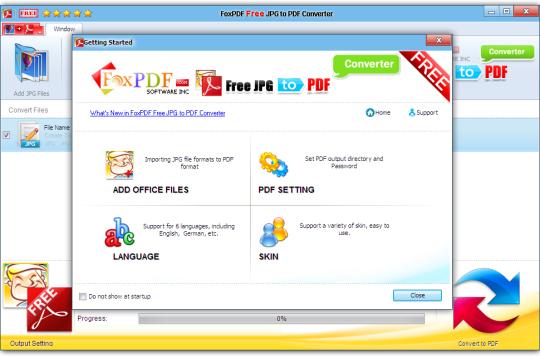 FoxPDF Free JPG to PDF Converter
