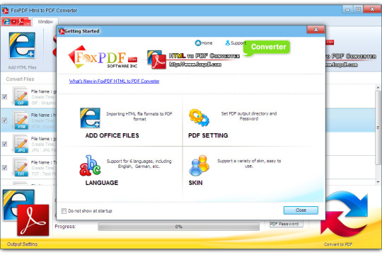 FoxPDF HTML to PDF Converter