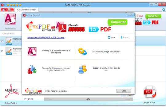 FoxPDF MDB to PDF Converter