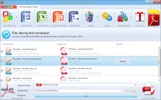 FoxPDF Office to PDF Converter