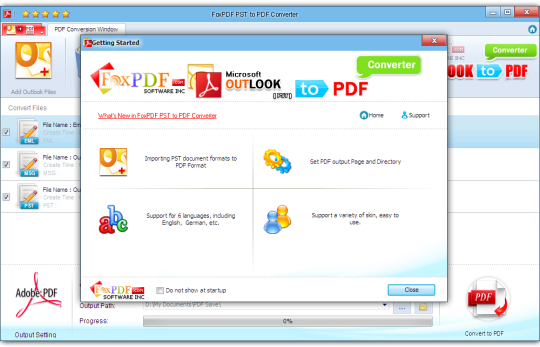 FoxPDF PST to PDF Converter