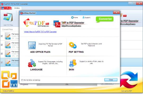 FoxPDF TXT to PDF Converter