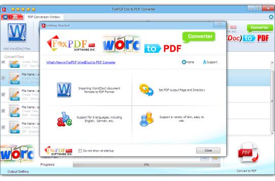 FoxPDF Word (DocX) to PDF Converter