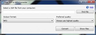 Free 3GP to MP3 Converter