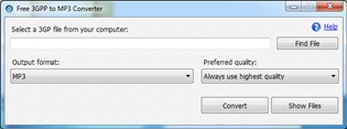 Free 3GPP to MP3 Converter