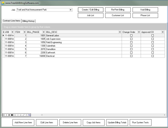 Free AIA Billing Software
