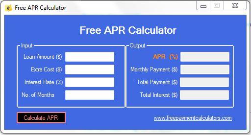 Free APR Calculator