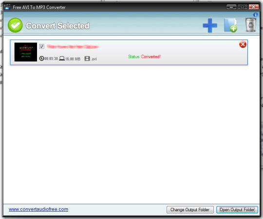 Free AVI to MP3 Converter
