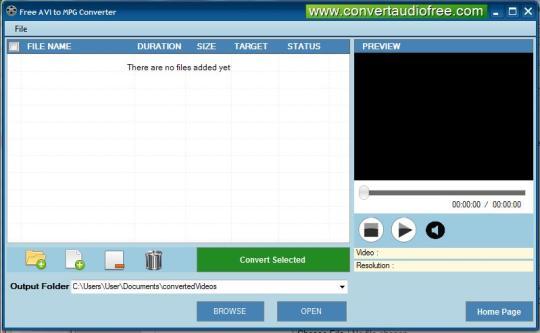 Free AVI to MPG Converter