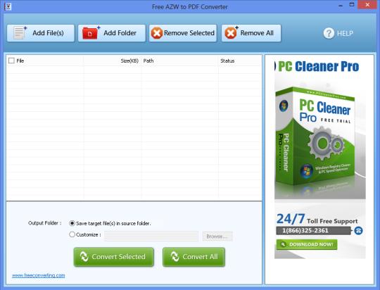 Free AZW to PDF Converter