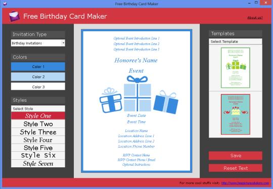 Free Birthday Card Maker
