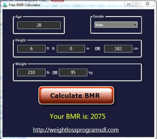 Free BMR Calculator