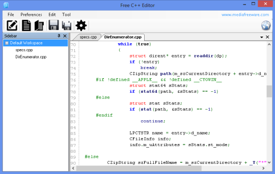 Free C++ Editor