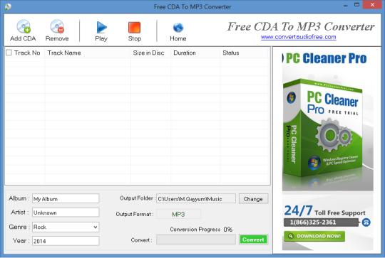 Free CDA to MP3 Converter