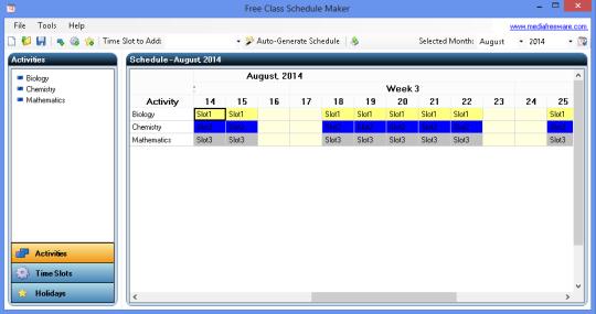 Free Class Schedule Maker