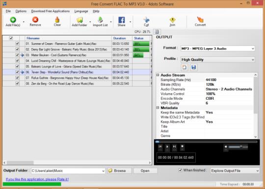 Free Convert FLAC To MP3
