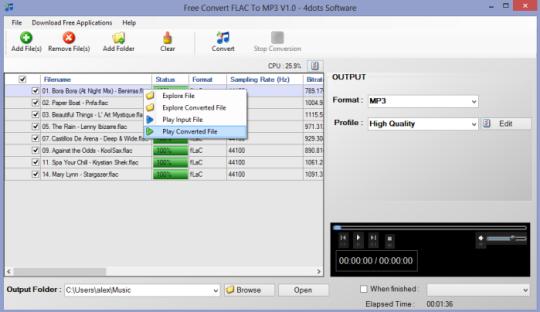 Free Convert WAV To MP3