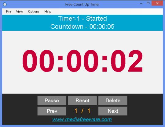 Free Count Up Timer