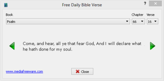 Free Daily Bible Verse