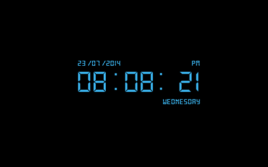 Free Digital Clock Screensaver