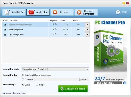 Free Docx to PDF Converter