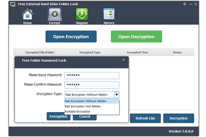 Free External Hard Drive Folder Lock