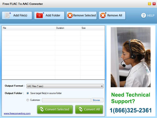 Free FLAC to AAC Converter