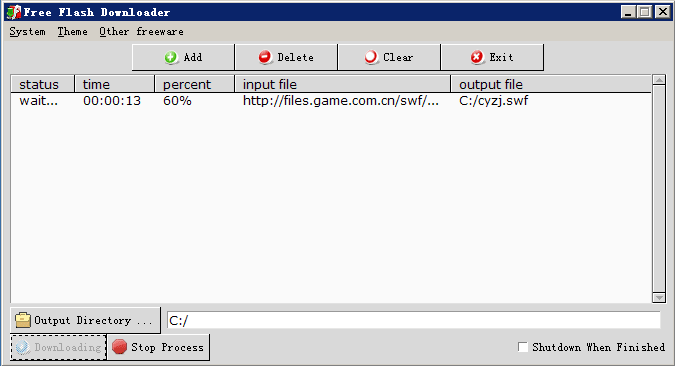 Free Flash Downloader
