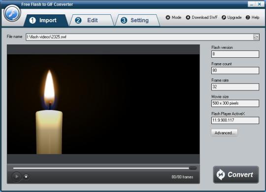 Free Flash to GIF Converter