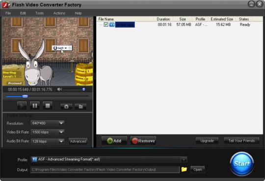 Free Flash Video Converter Factory