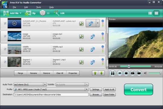 Free FLV to Audio Converter