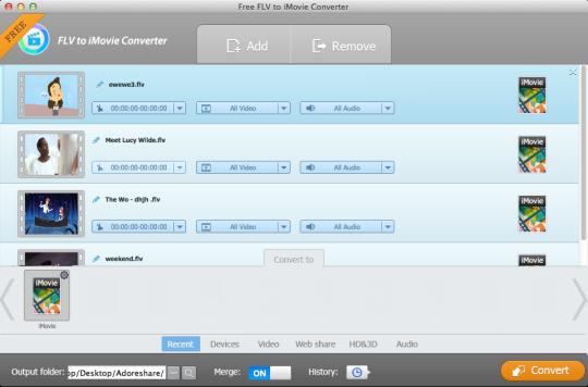 Free FLV to iMovie Converter