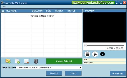 Free FLV To MPG Converter