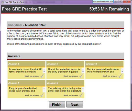 Free GRE Practice Test